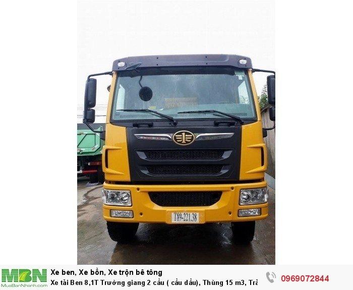 Xe tải Ben 8,1T Trường giang 2 cầu ( cầu dầu), Thùng 15 m3, Trả góp 198 triệu, Giao xe ngay 13