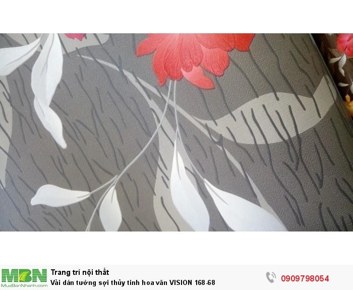 Vải dán tường sợi thủy tinh hoa văn  VISION 168-68