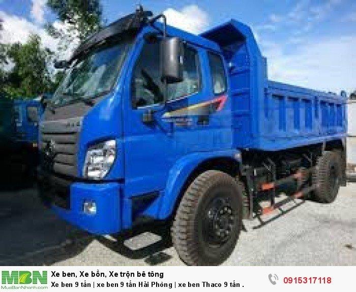 Xe ben 9 tấn   xe ben 9 tấn Hải Phòng   xe ben Thaco 9 tấn . 0