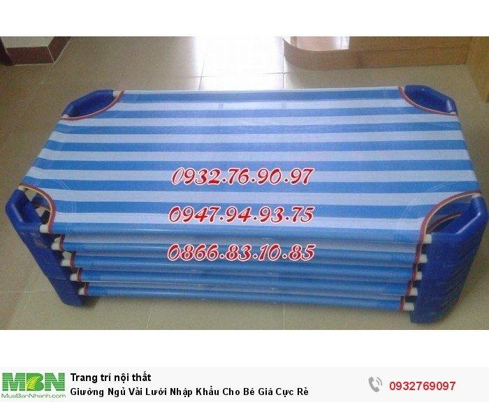 Giường Ngủ Vải Lưới Nhập Khẩu Cho Bé Giá Cực Rẻ