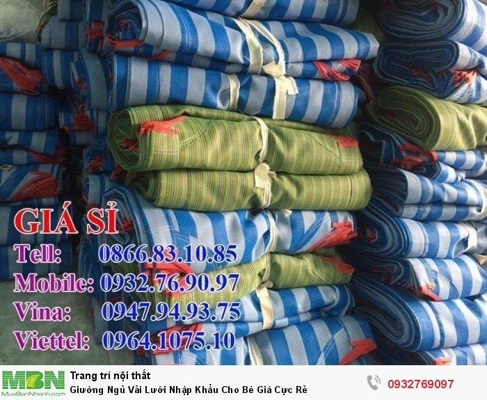 Giường Ngủ Vải Lưới Nhập Khẩu Cho Bé Giá Cực Rẻ1