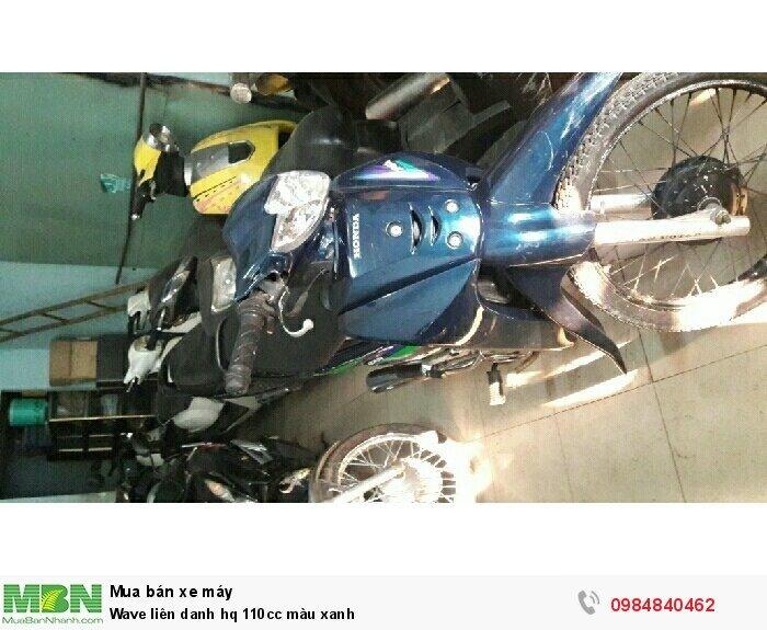 Wave liên danh hq 110cc màu xanh
