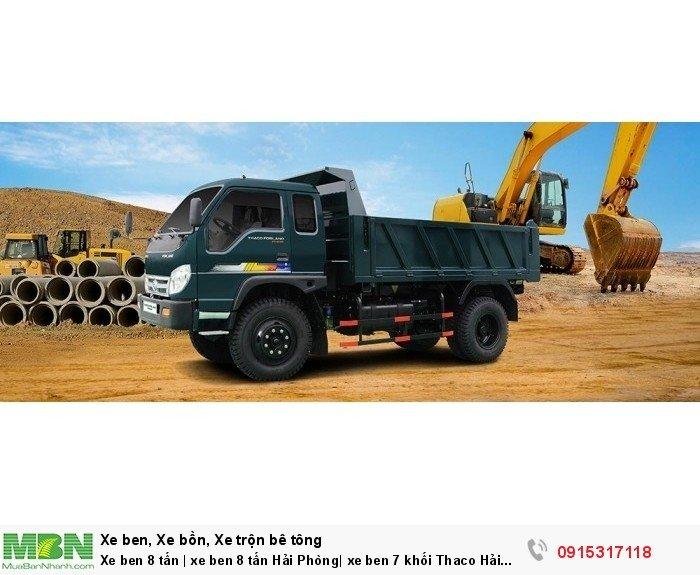 Xe ben 8 tấn | xe ben 8 tấn Hải Phòng| xe ben 7 khối Thaco Hải Phòng 0