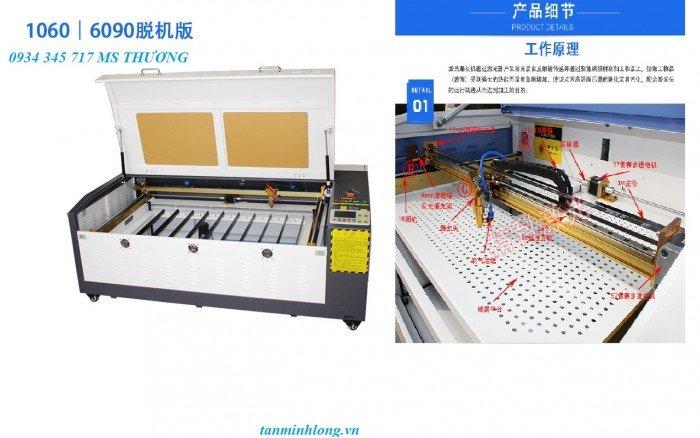 Máy Laser 6090 cắt khắc gỗ tại Tân Minh Long2