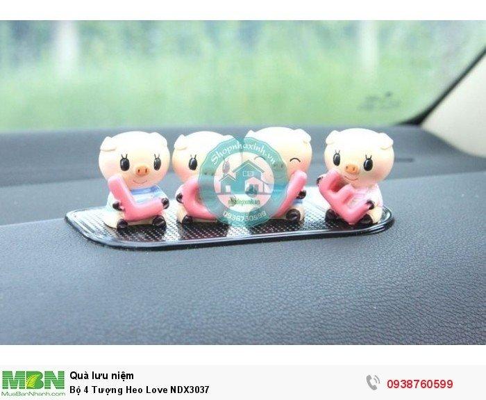 Bộ 4 Tượng Heo Love NDX30370