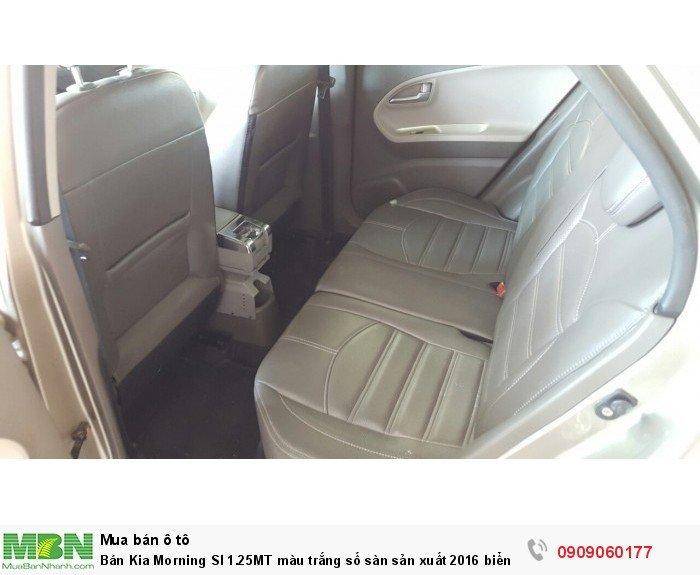 Bán Kia Morning SI 1.25MT màu trắng số sàn sản xuất 2016 biển Sài Gòn mẫu mới 3