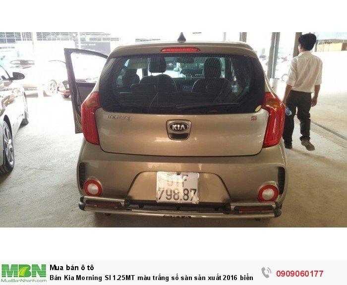 Bán Kia Morning SI 1.25MT màu trắng số sàn sản xuất 2016 biển Sài Gòn mẫu mới 4