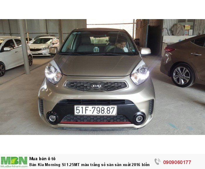 Bán Kia Morning SI 1.25MT màu trắng số sàn sản xuất 2016 biển Sài Gòn mẫu mới 6