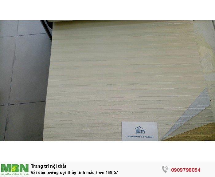 Vải dán tường sợi thủy tinh mẫu trơn 168-57