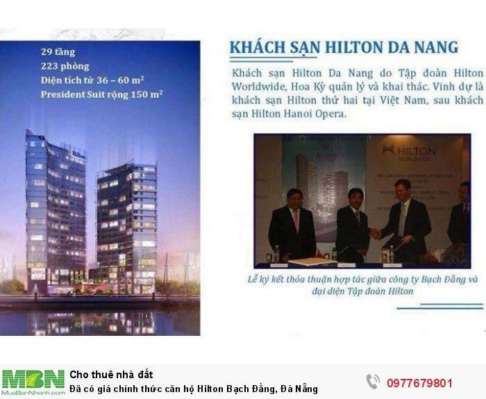 Đã có giá chính thức căn hộ Hilton Bạch Đằng, Đà Nẵng