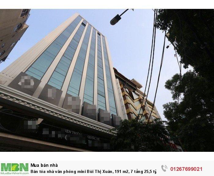 Bán tòa nhà văn phòng mini Bùi Thị Xuân, 191 m2, 7 tầng 25,5 tỷ, sổ hồng.