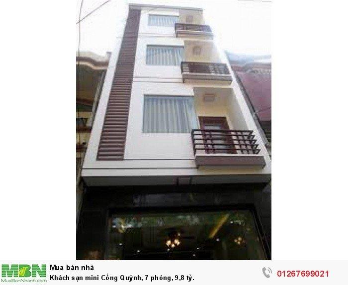 Khách sạn mini Cống Quỳnh, 7 phòng, 9,8 tỷ.