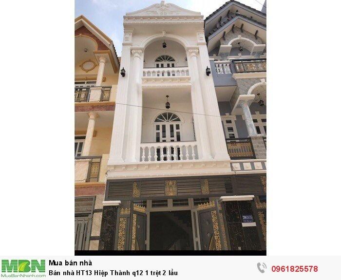 Bán nhà HT13 Hiệp Thành q12 1 trệt 2 lầu