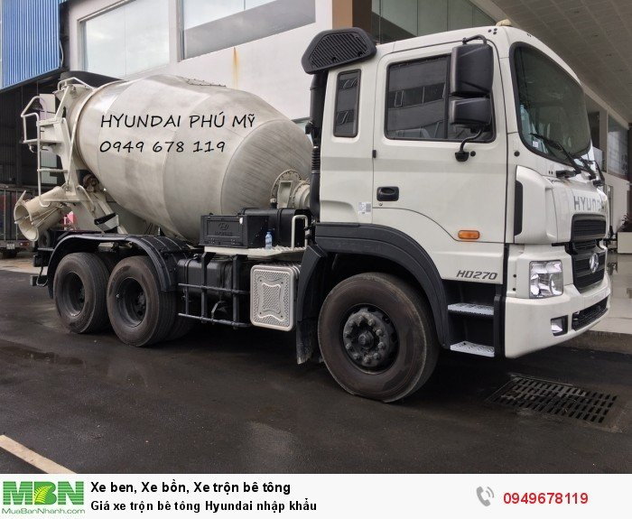 Giá xe trộn bê tông Hyundai nhập khẩu