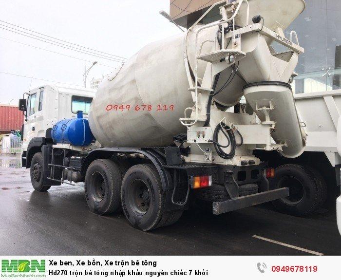Hd270 trộn bê tông nhập khẩu nguyên chiếc 7 khối