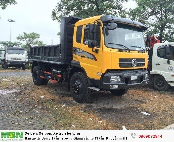 Bán xe tải Ben 8.1 tấn Trường Giang cầu to 13 tấn, Khuyến mãi bộ cơi thùng, Trả góp chỉ từ 200 triệu 0