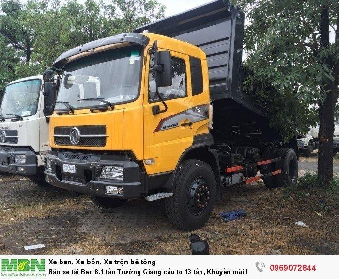 Bán xe tải Ben 8.1 tấn Trường Giang cầu to 13 tấn, Khuyến mãi bộ cơi thùng, Trả góp chỉ từ 200 triệu