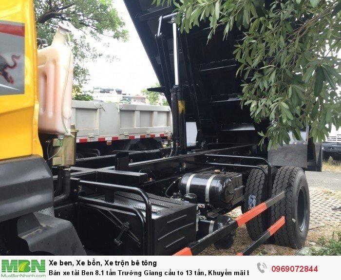 Bán xe tải Ben 8.1 tấn Trường Giang cầu to 13 tấn, Khuyến mãi bộ cơi thùng, Trả góp chỉ từ 200 triệu 4