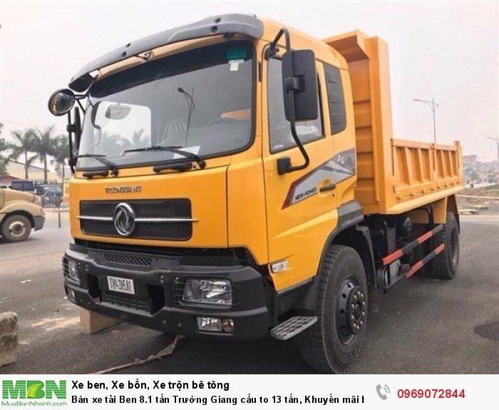 Bán xe tải Ben 8.1 tấn Trường Giang cầu to 13 tấn, Khuyến mãi bộ cơi thùng, Trả góp chỉ từ 200 triệu 6