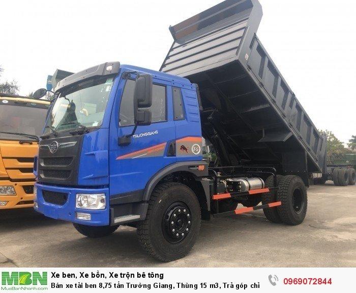 Bán xe tải ben 8,75 tấn Trường Giang, Thùng 15 m3, Trả góp chỉ từ 175 Triệu, Giao xe ngay