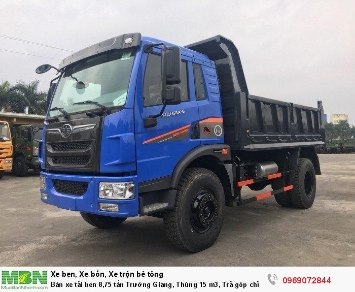 Bán xe tải ben 8,75 tấn Trường Giang, Thùng 15 m3, Trả góp chỉ từ 175 Triệu, Giao xe ngay 1