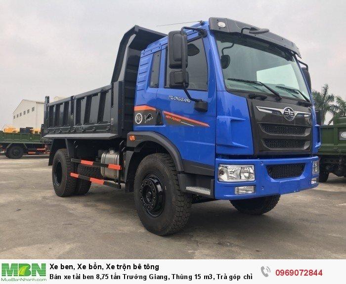 Bán xe tải ben 8,75 tấn Trường Giang, Thùng 15 m3, Trả góp chỉ từ 175 Triệu, Giao xe ngay 3