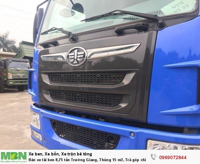 Bán xe tải ben 8,75 tấn Trường Giang, Thùng 15 m3, Trả góp chỉ từ 175 Triệu, Giao xe ngay 7