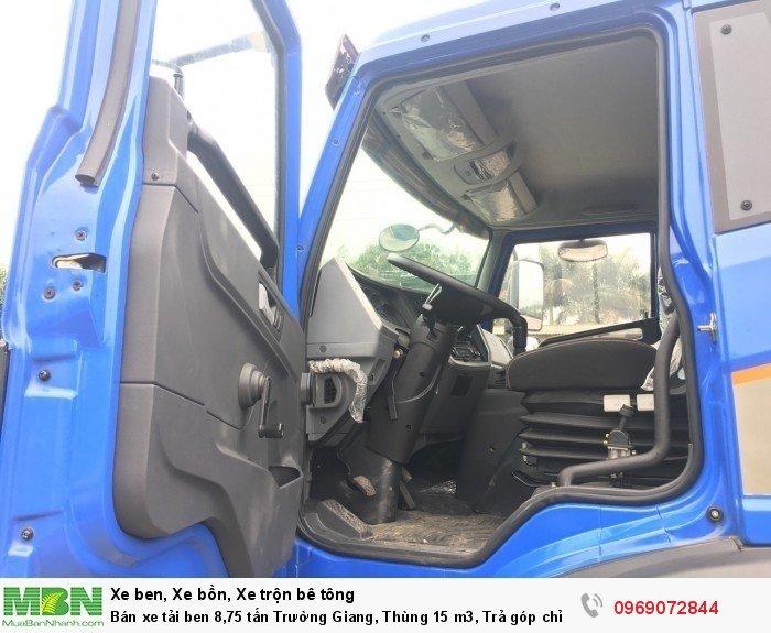 Bán xe tải ben 8,75 tấn Trường Giang, Thùng 15 m3, Trả góp chỉ từ 175 Triệu, Giao xe ngay 9