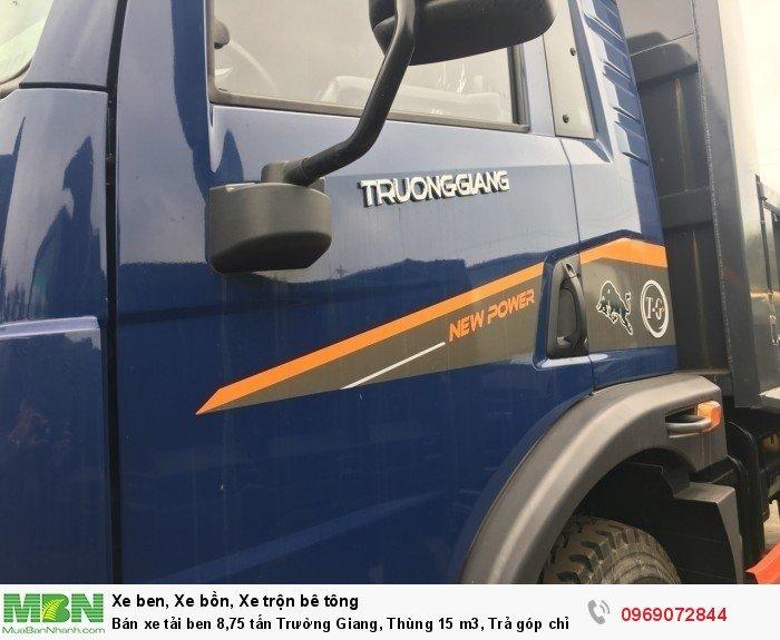Bán xe tải ben 8,75 tấn Trường Giang, Thùng 15 m3, Trả góp chỉ từ 175 Triệu, Giao xe ngay 16