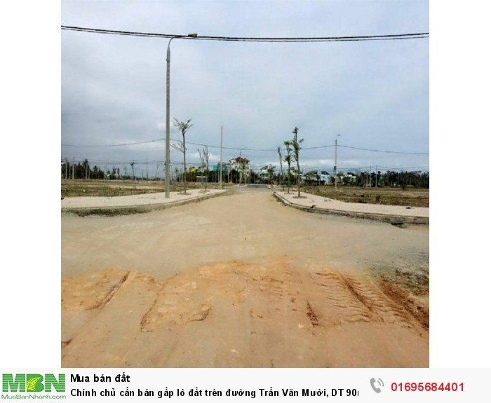 Chính chủ cần bán gấp lô đất trên đường Trần Văn Mười, DT 90m2, sổ hồng riêng, thổ cư 100%