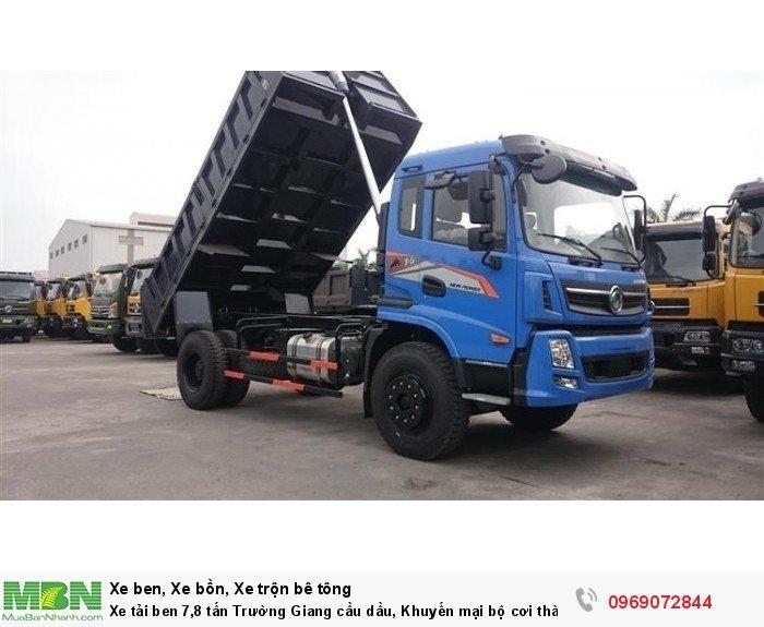 Xe tải ben 7,8 tấn Trường Giang cầu dầu, Khuyến mại bộ cơi thành, Trả góp chỉ từ 205 triệu, Giao xe ngay 0