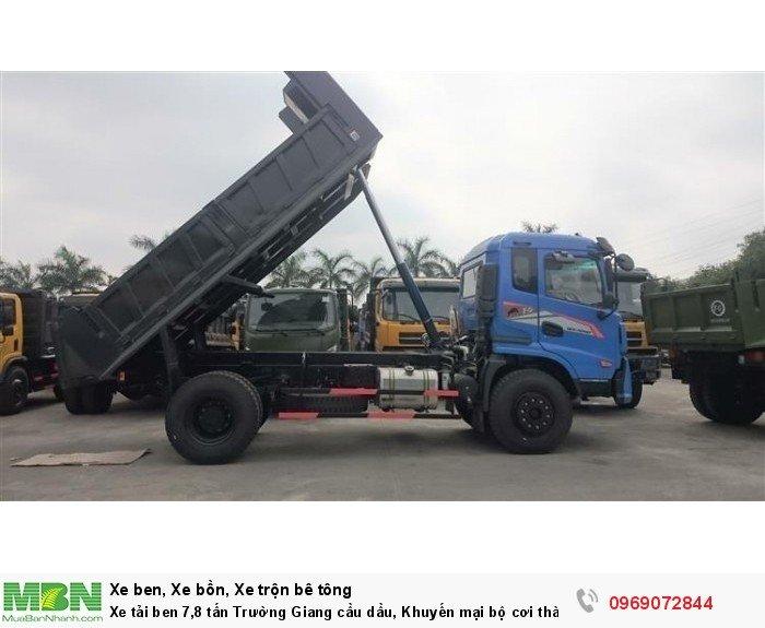 Xe tải ben 7,8 tấn Trường Giang cầu dầu, Khuyến mại bộ cơi thành, Trả góp chỉ từ 205 triệu, Giao xe ngay 1