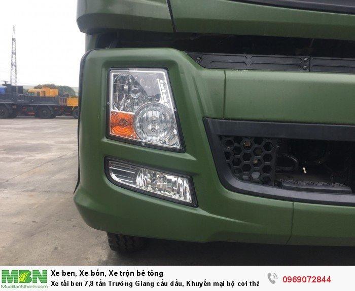 Xe tải ben 7,8 tấn Trường Giang cầu dầu, Khuyến mại bộ cơi thành, Trả góp chỉ từ 205 triệu, Giao xe ngay 4