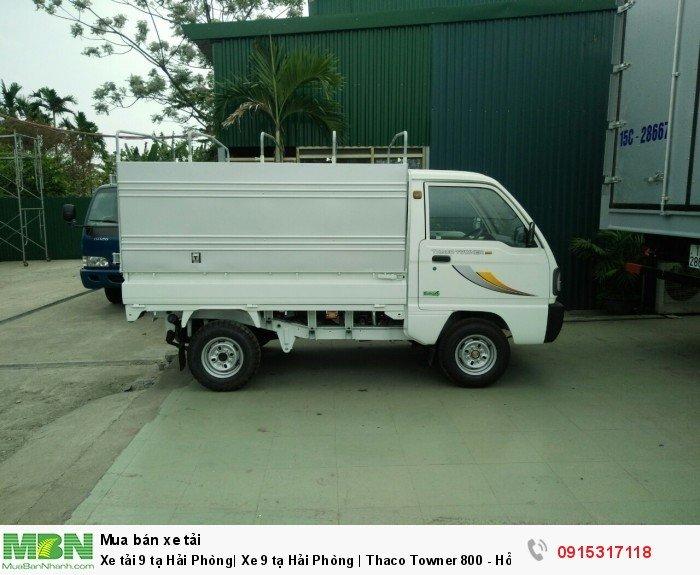 Xe tải 9 tạ Hải Phòng| Xe 9 tạ Hải Phòng | Thaco Towner 800 - Hỗ trợ trả góp 0