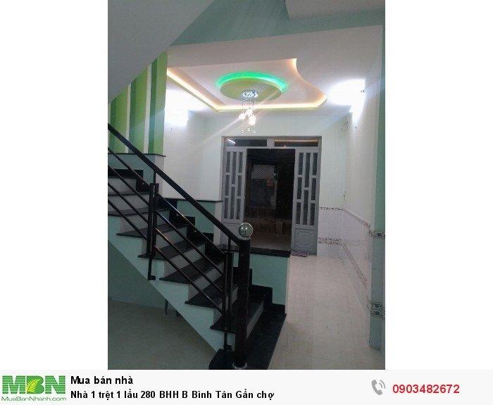 Nhà 1 trệt 1 lầu 280 BHH B Bình Tân Gần chợ