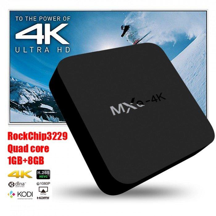 MXQ-4K Android 4.4 TV Box tặng chuột bay 1GB RAM 8GB ROM Quad Core3