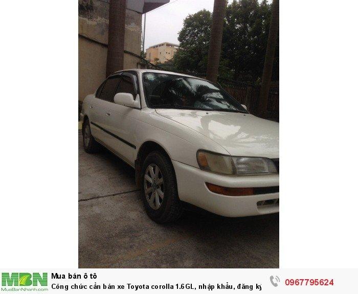 Công chức cần bán xe Toyota corolla 1.6GL, nhập khẩu, đăng ký lần đầu 1998, 2