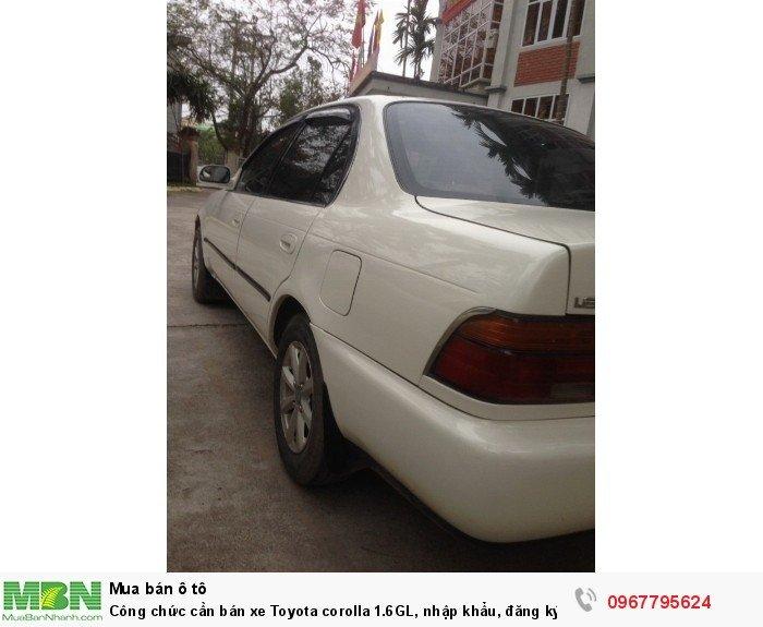 Công chức cần bán xe Toyota corolla 1.6GL, nhập khẩu, đăng ký lần đầu 1998, 4