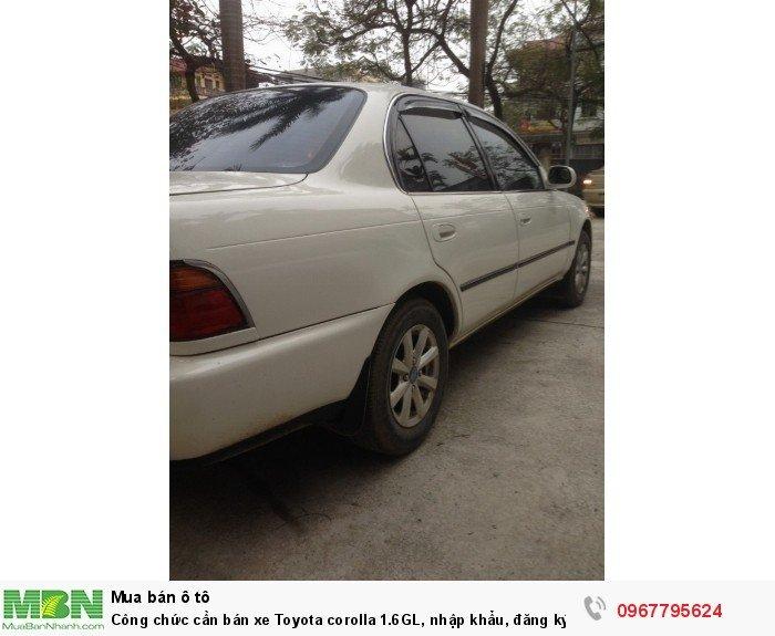 Công chức cần bán xe Toyota corolla 1.6GL, nhập khẩu, đăng ký lần đầu 1998, 5