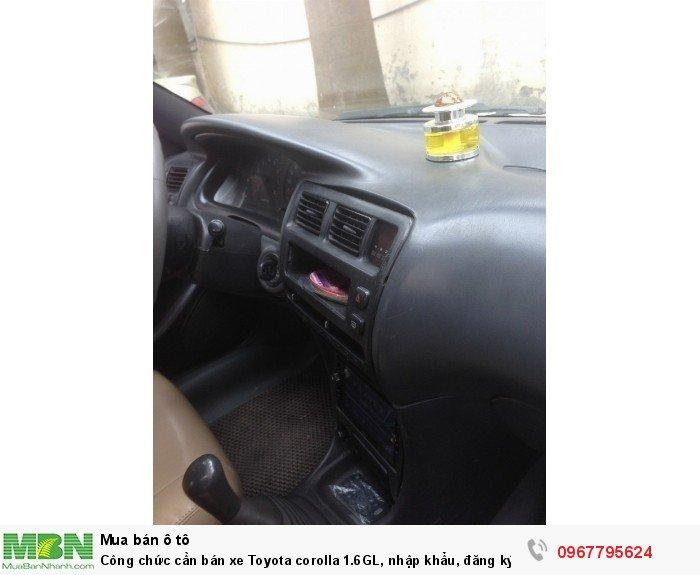 Công chức cần bán xe Toyota corolla 1.6GL, nhập khẩu, đăng ký lần đầu 1998, 7