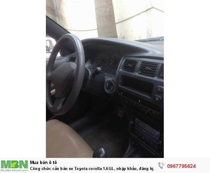 Công chức cần bán xe Toyota corolla 1.6GL, nhập khẩu, đăng ký lần đầu 1998, 8