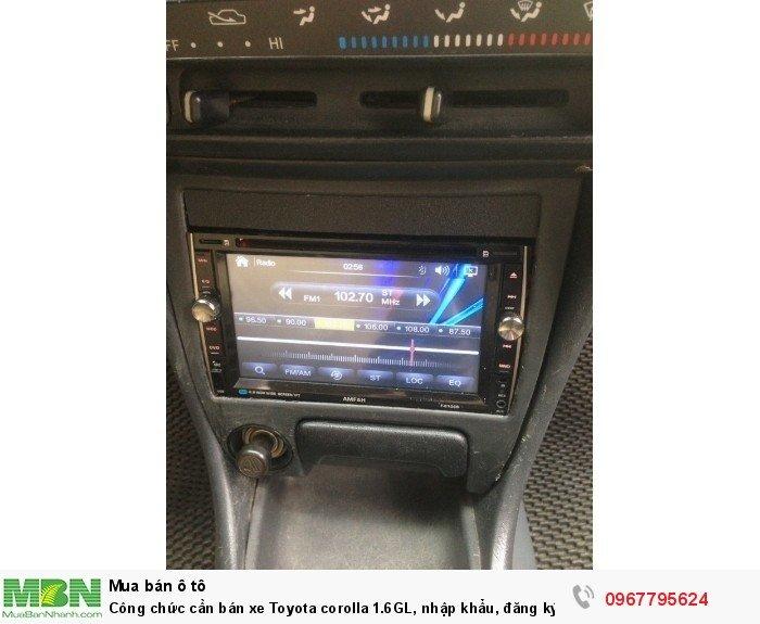 Công chức cần bán xe Toyota corolla 1.6GL, nhập khẩu, đăng ký lần đầu 1998, 9