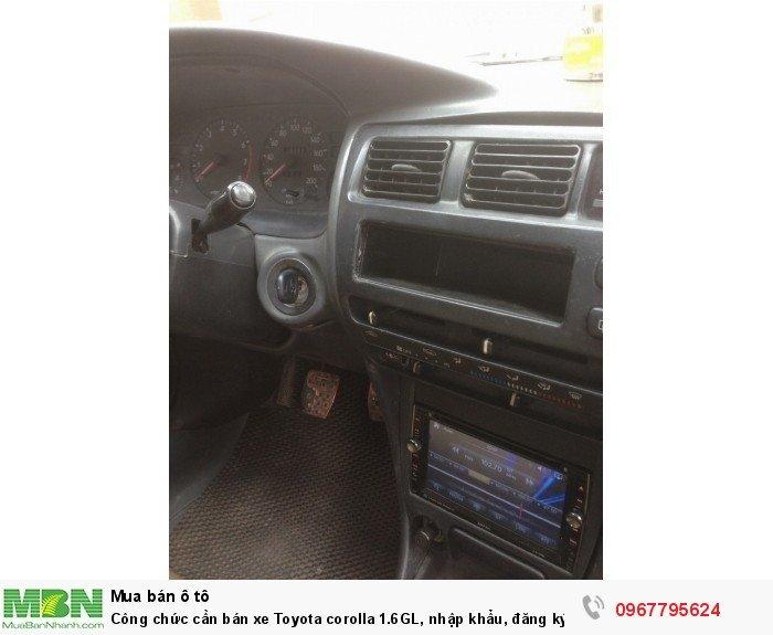 Công chức cần bán xe Toyota corolla 1.6GL, nhập khẩu, đăng ký lần đầu 1998, 10
