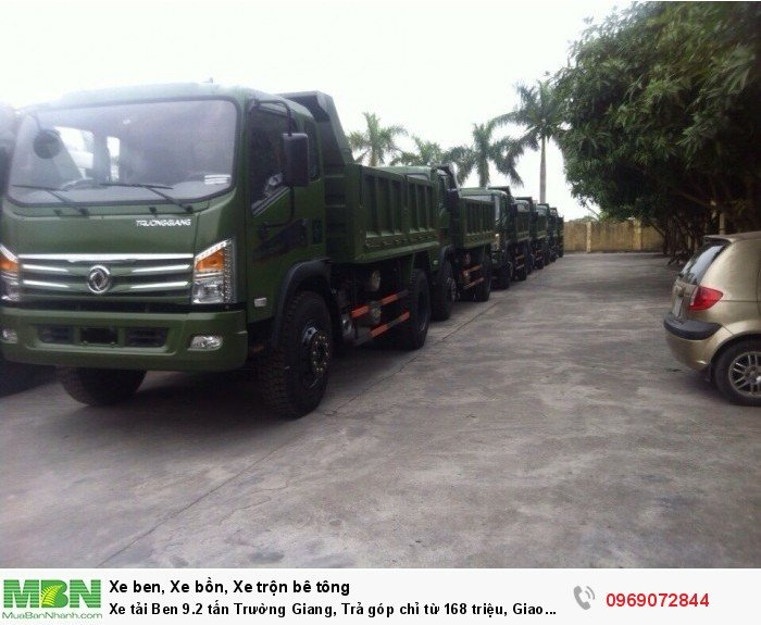 Xe tải Ben 9.2 tấn Trường Giang, Trả góp chỉ từ 168 triệu, Giao xe ngay 5