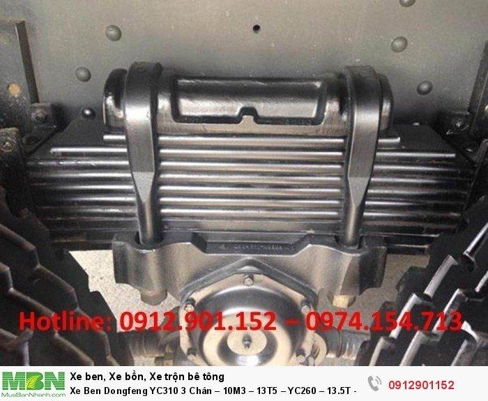 Xe Ben Dongfeng YC310 3 Chân – 10M3 – 13T5 – YC260 – 13.5T – 10 Khối 2 cầu 1 zí