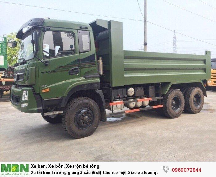 Xe tải ben Trường giang 3 cầu (6x6) Cầu reo mỹ| Giao xe toàn quốc 0