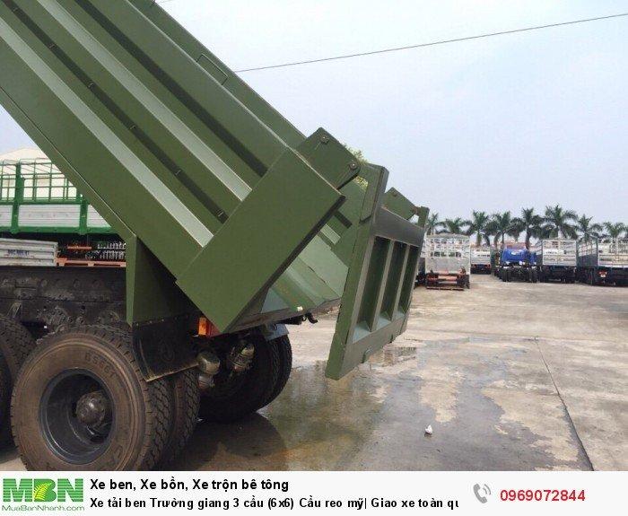 Xe tải ben Trường giang 3 cầu (6x6) Cầu reo mỹ| Giao xe toàn quốc 3