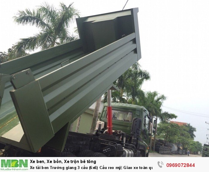 Xe tải ben Trường giang 3 cầu (6x6) Cầu reo mỹ| Giao xe toàn quốc 2