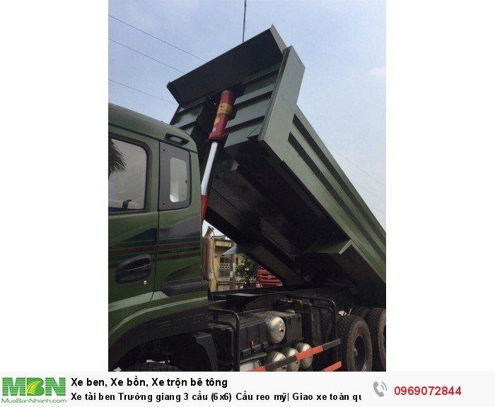 Xe tải ben Trường giang 3 cầu (6x6) Cầu reo mỹ| Giao xe toàn quốc 5
