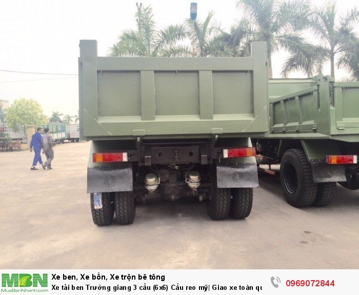Xe tải ben Trường giang 3 cầu (6x6) Cầu reo mỹ| Giao xe toàn quốc 4